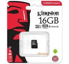 Карта памяти MicroSDHC 16Gb Kingston class 10