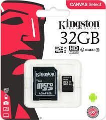 Карта памяти MicroSDHC 32Gb Kingston class 10